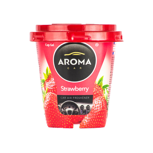 Aroma Car Cup Gel Strawberry Standing