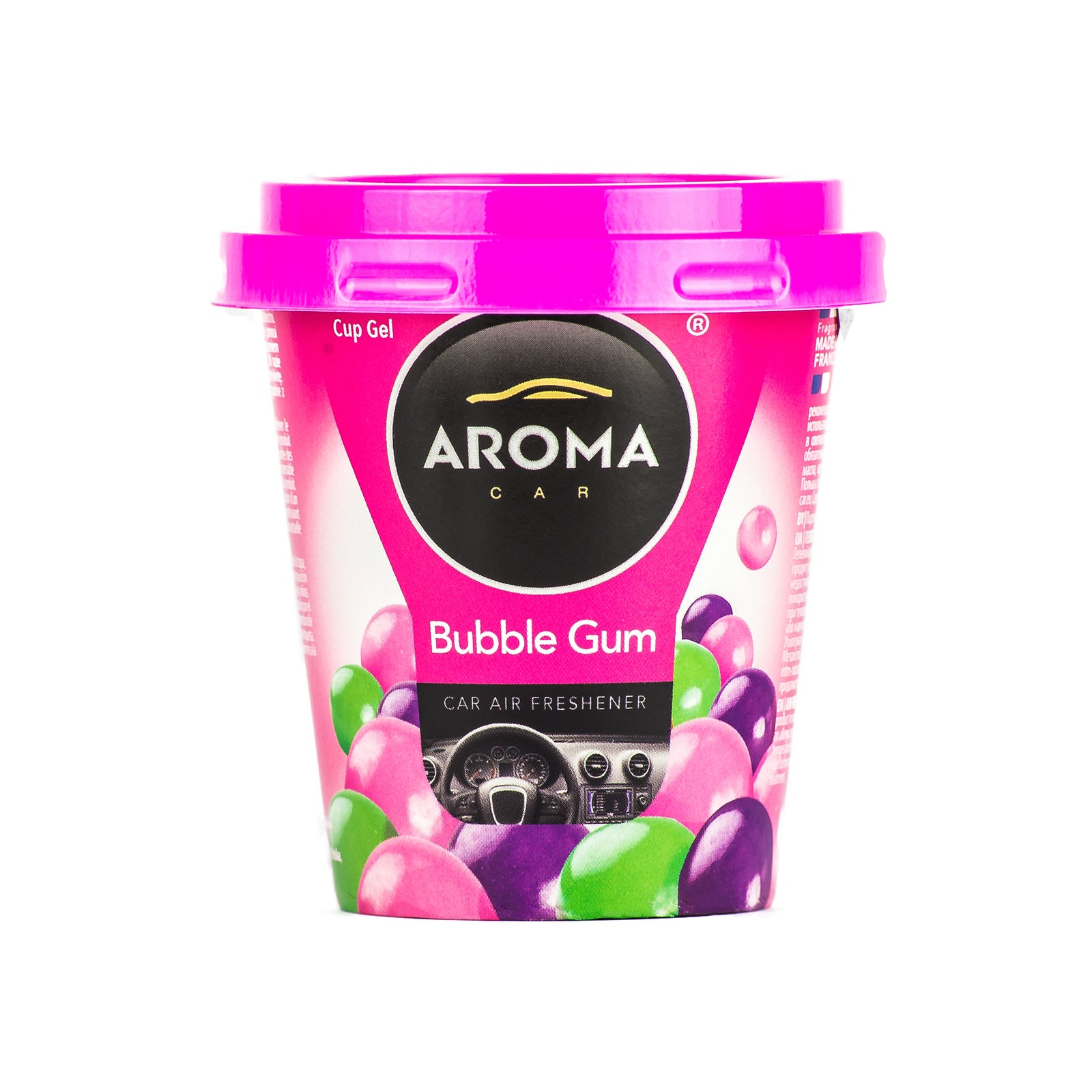 Aroma Car Cup Gel Bubble Gum Standing