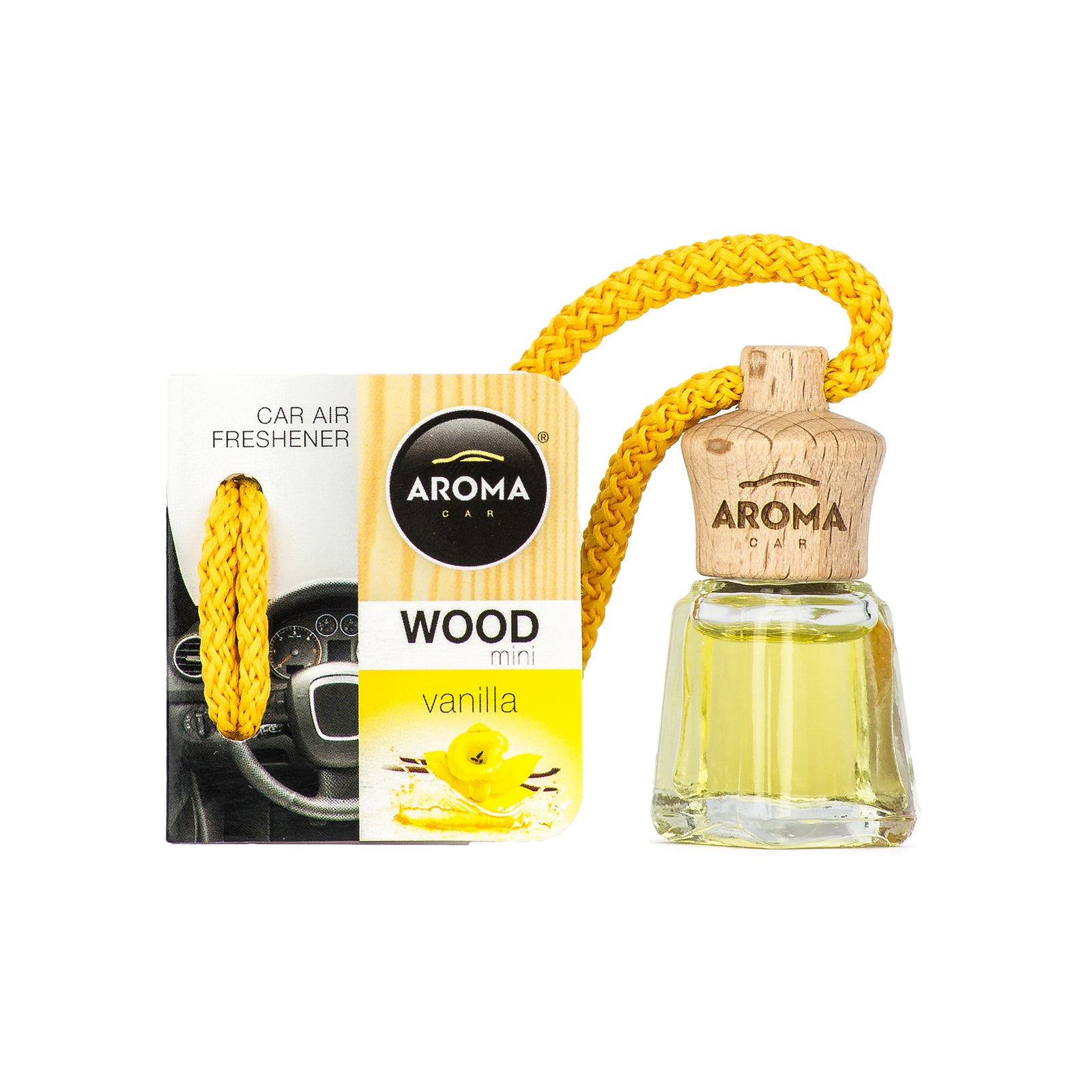 Aroma Car Wood Mini 4 ml Vanilla Hanging