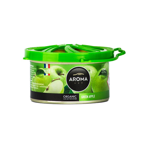 Aroma Car Organic 40g Green Apple Standing