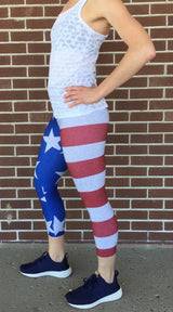 Women's Stars and Stripes Crop