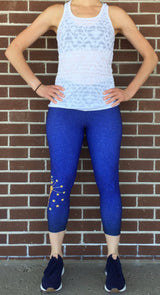 Women's Indiana Flag Crop