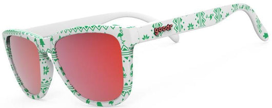 goodr OG Running Sunglasses- Merry Flocking Christmas