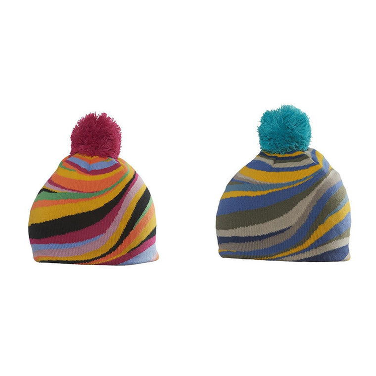 Toni Psychedellic Twist Magic Pom Beanie