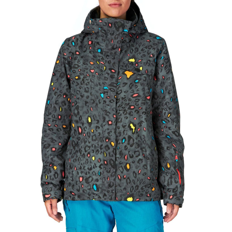 Roxy Girls 10k Multicolored Polyester Snowboarding Jacket