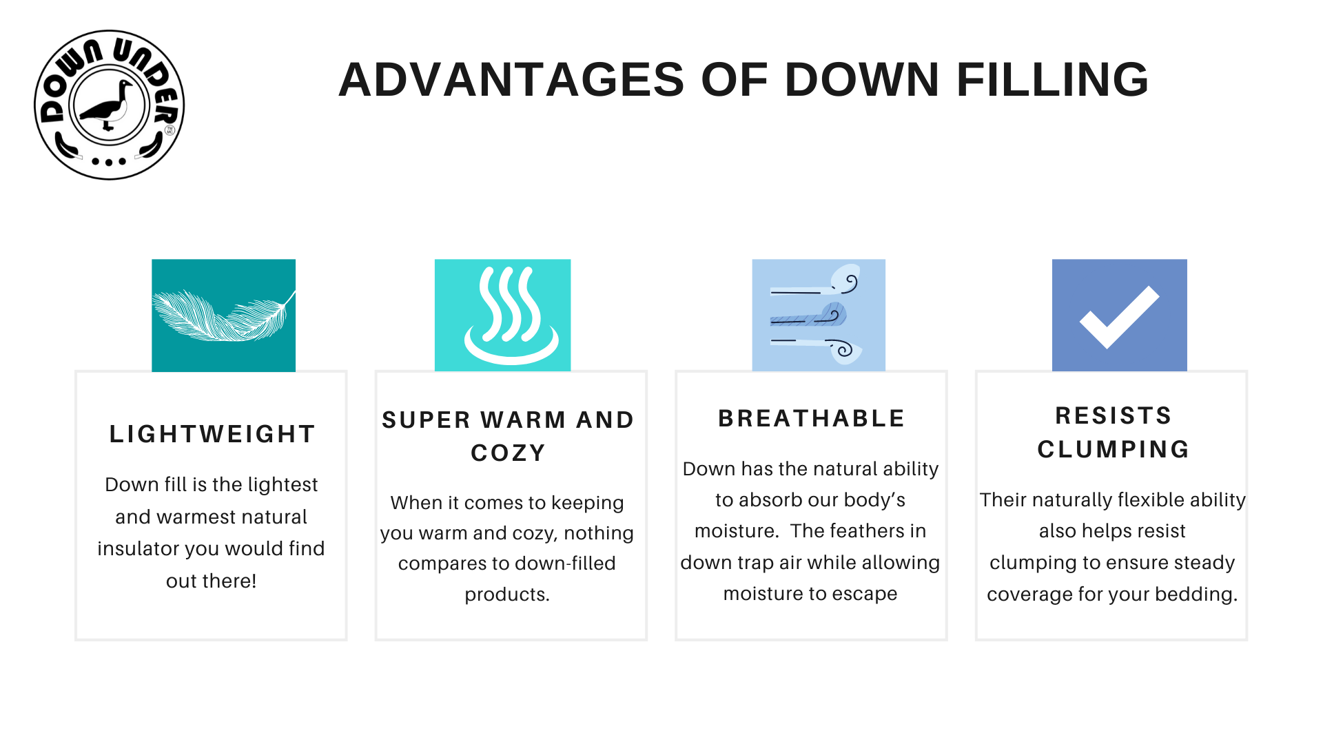 Advantages Pros of Down fill