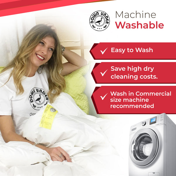 Is your duvet machine washable? If not what are the alternatives to washing a duvet?