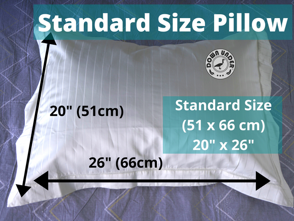 Standard pillow size and dimesnions