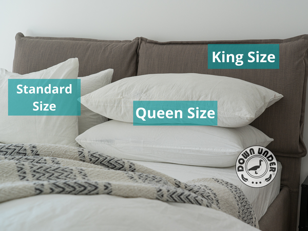 Pillow sizes and dimensions- standard, queen, king