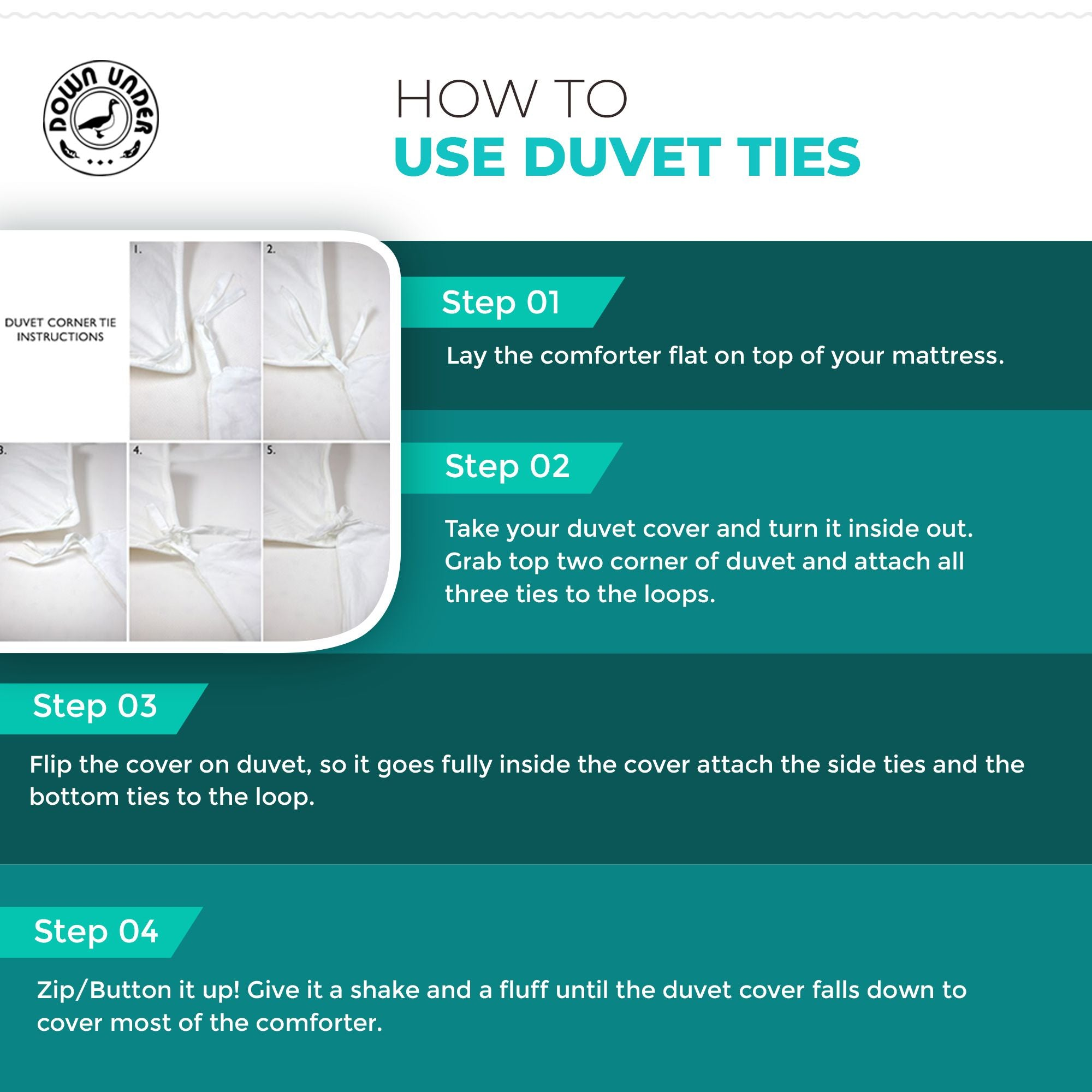 How to use Duvet Cover Ties