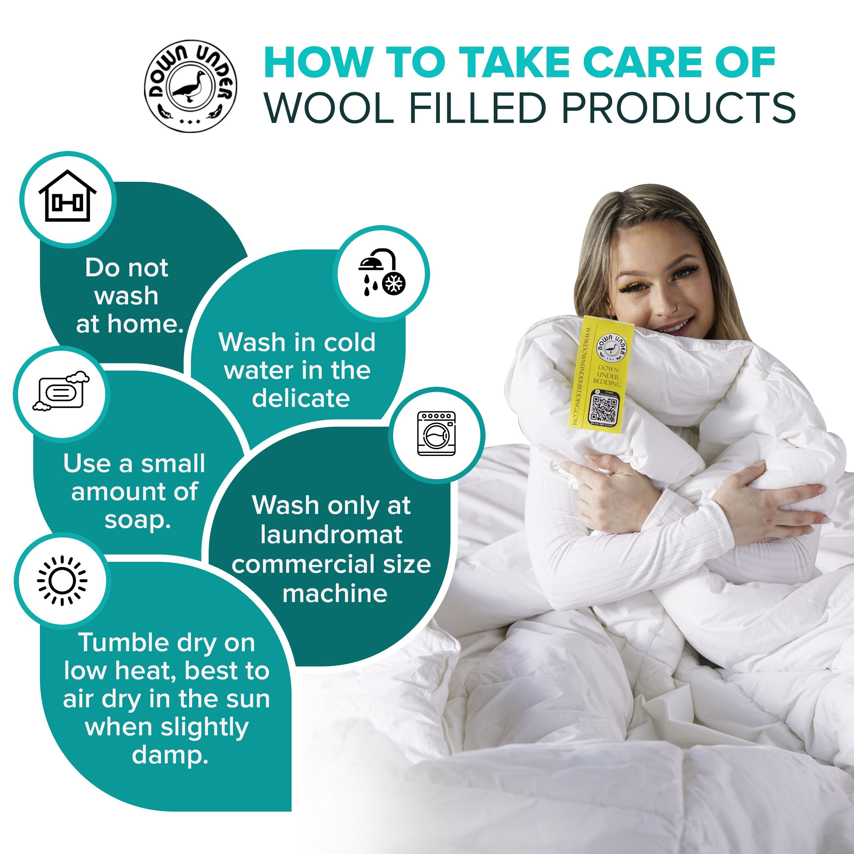 How to take care of wool filled products?
