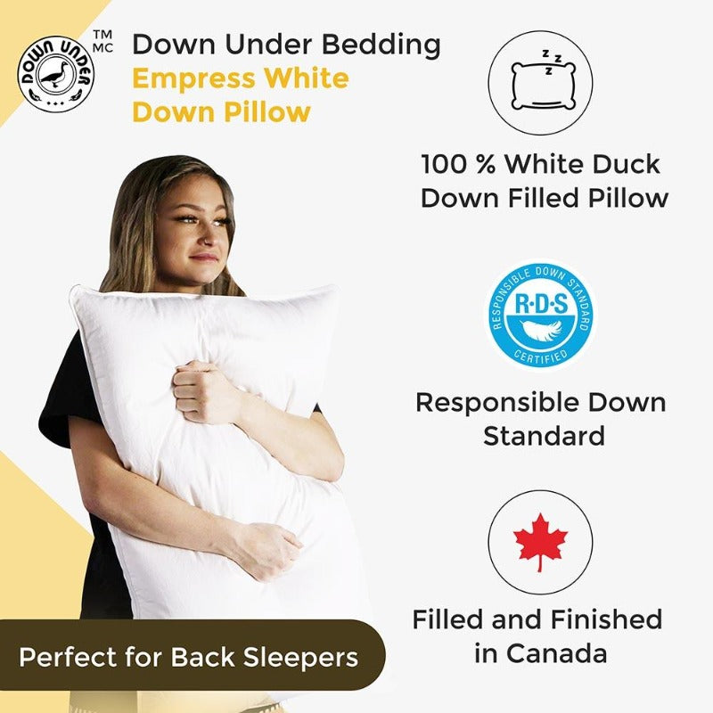 geese duck goose down bed pillow 2 pack adjustable head support shoulder neck pain bed hotel fluffy cervical anti-snoring