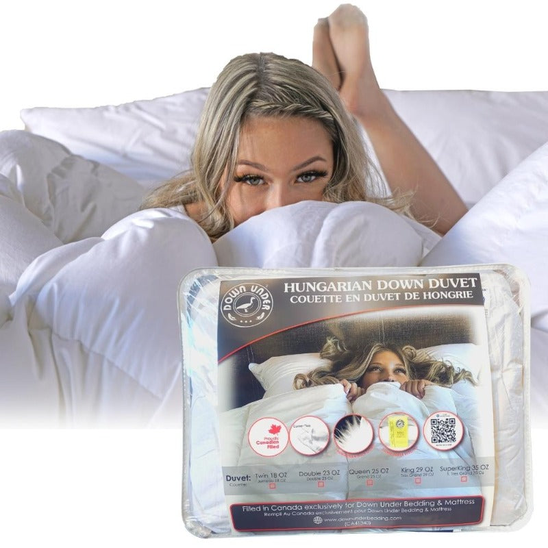 canada white duck down duvet blanket 550 loft  corner ties  quilt warm cozy comforter California super king all season