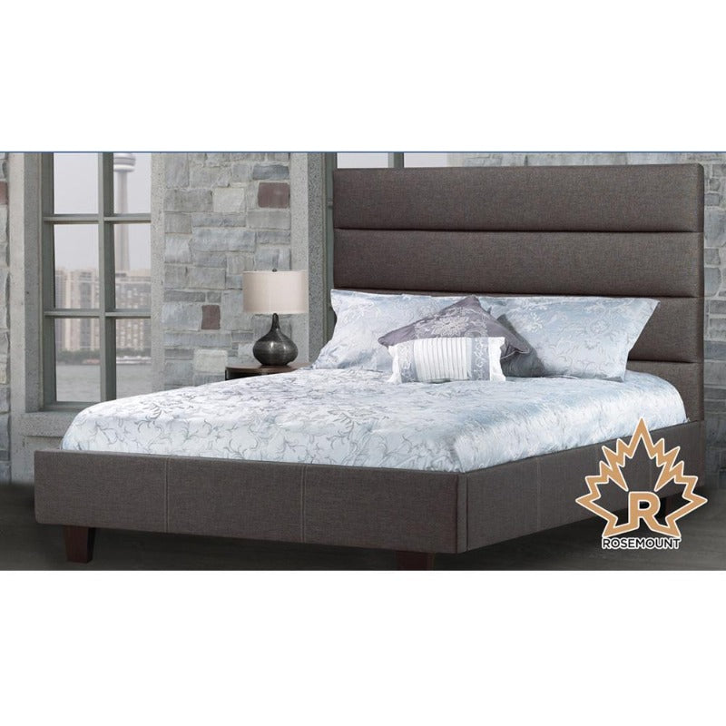 rosemount collection bedroom furniture riya platform bed R-162 classic room decor Canada upholstered leather linen king queen