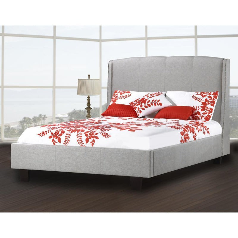 rosemount collection bedroom furniture presley platform bed R-197 classic room decor Canada upholstered leather king queen