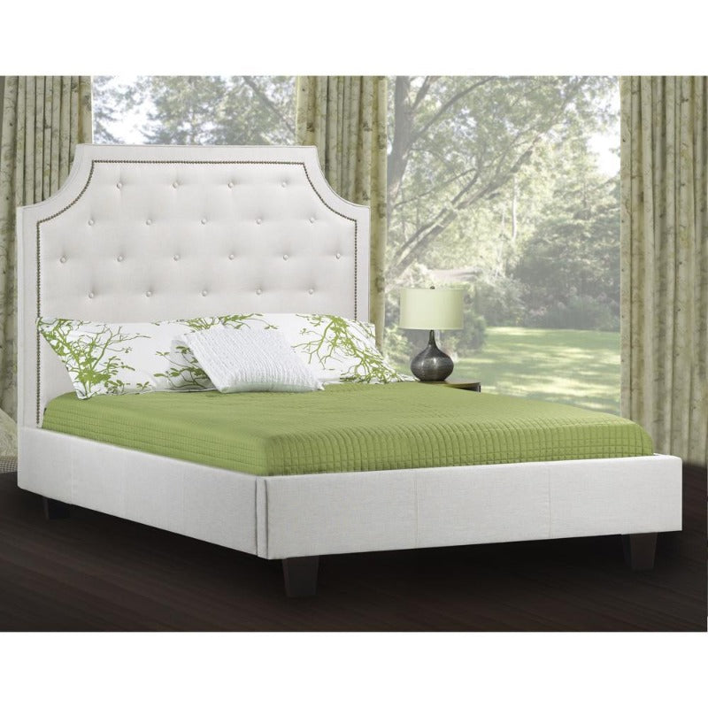 rosemount collection bedroom furniture chester platform bed cozy classic room decor Canada upholstered leather king queen