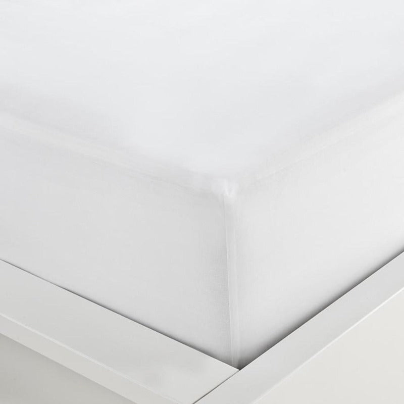 "Fitted 15"" Deep 100% Cotton Bed Sheet White"