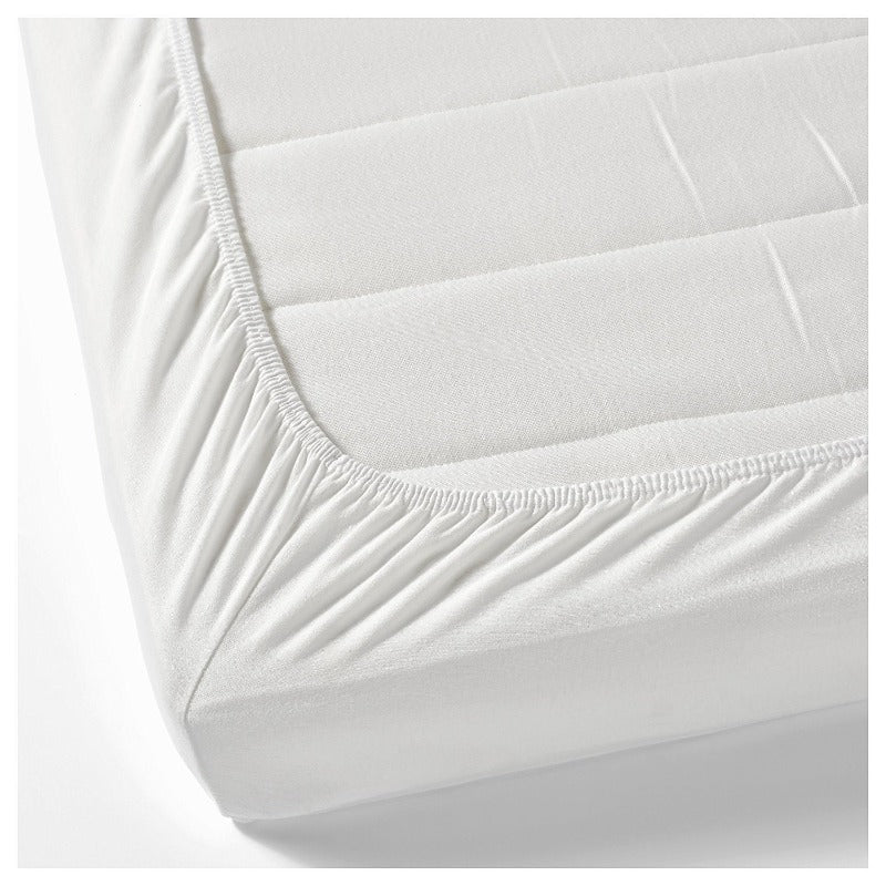 White Single Ply 500TC 1Pc Fitted or Flat Bed Sheet - Down Under Bedding and Mattresses