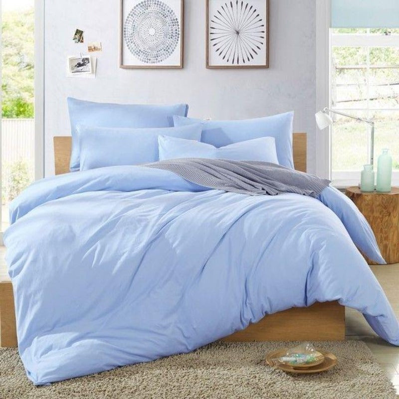 combed cotton duvet comforter cover corner ties tabs california king extra large all season washable satin 300 thread count