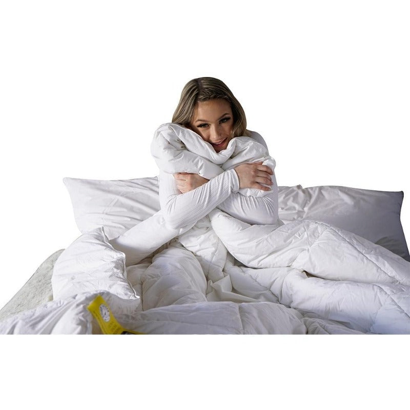 goose down duvet blanket 550 loft comforter cozy quilt corner ties warm all season California Super king canada winter 289 TC