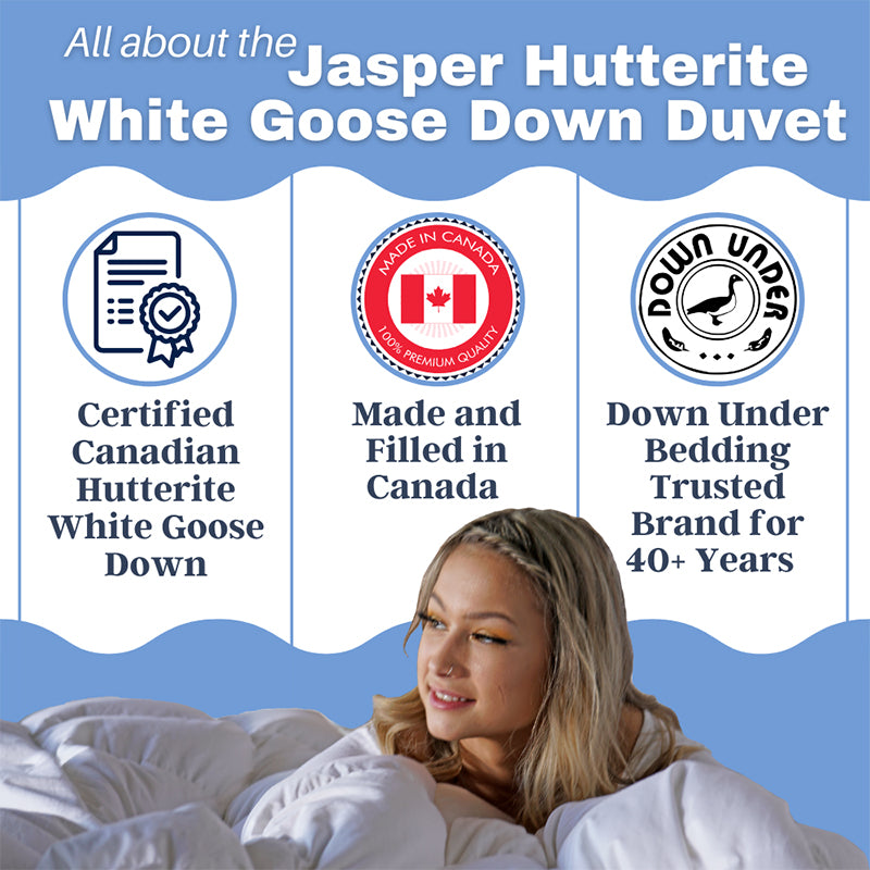 goose down duvet blanket 850 loft comforter cozy quilt jasper cotton cover corner ties warm twin queen king double canada