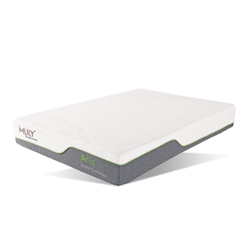 cool flex memory foam mattress zoned support hybrid spring air-flow comfortable gel-infused smart bedding MLily Aria latex