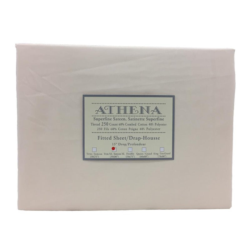 Athena Rene Cottonpolyester 250 Thread Count One Pc Fitted Sheet