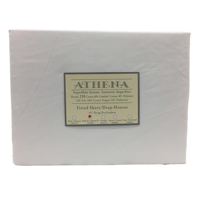 Athena (RENE) Cotton/Polyester 250 Thread Count One PC Fitted Sheet Twin XL - Down Under Bedding and Mattresses