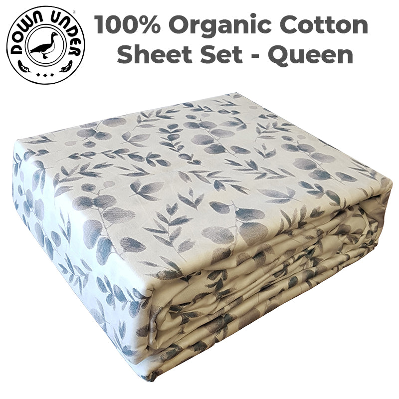 cotton printed fitted bed sheet set 250 thread count beautiful 2 pillowcases queen washable luxurious comfortable