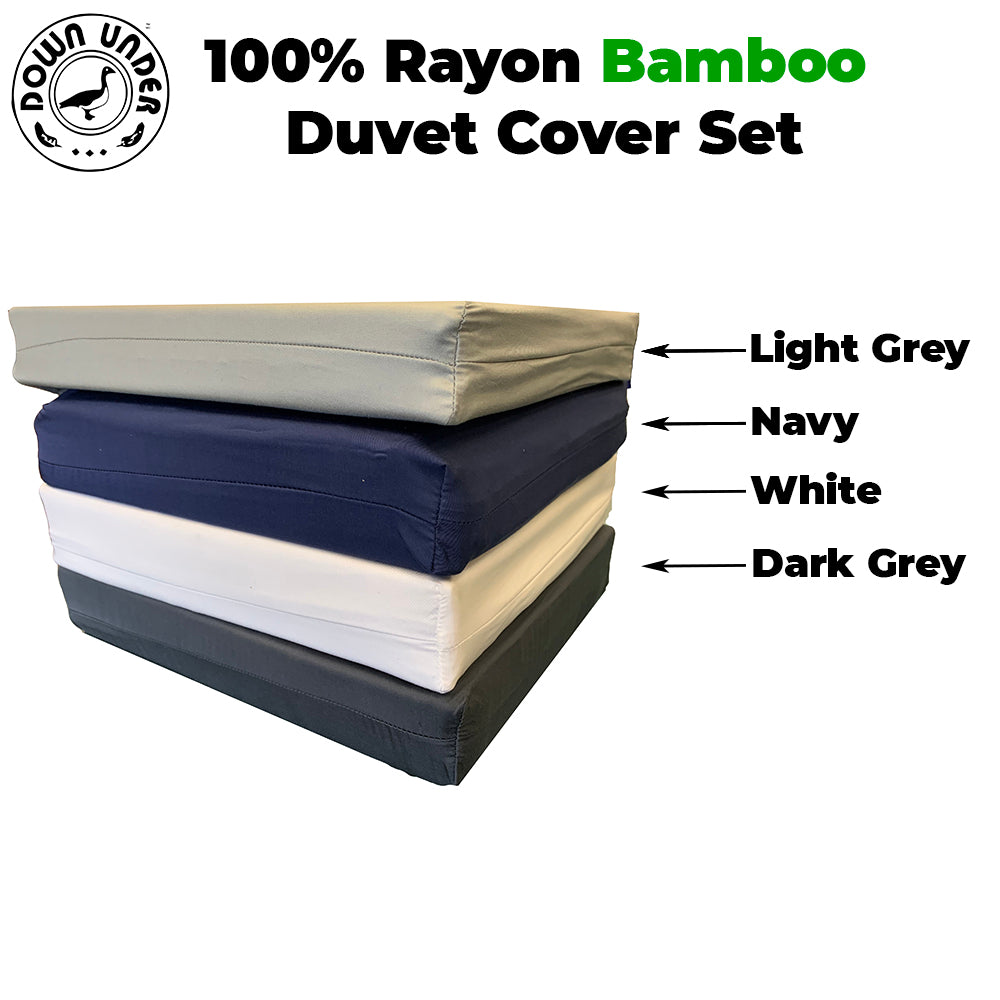 100% rayon Bamboo Duvet Cover Set 450 thread count hypoallergenic queen king silky soft breathable comfortable