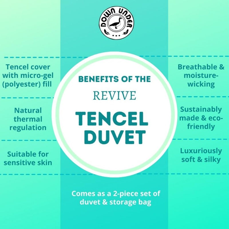 What are the benefits of a tencel duvet blanket