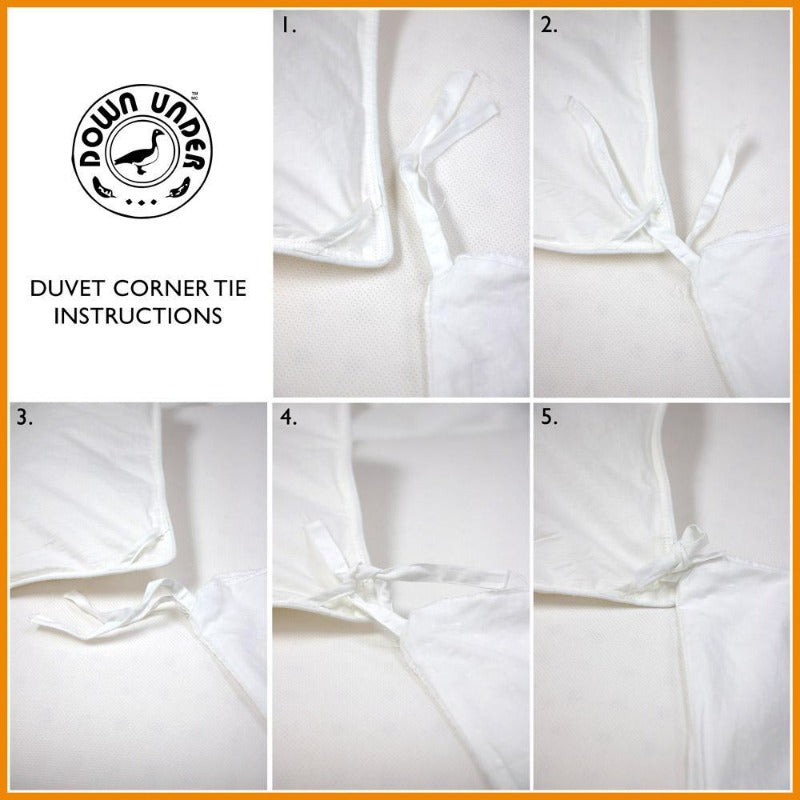 Down Under Filled In Canada Artisan White Down Duvet Comforter Blanket With Corner Ties - Down Under Bedding and Mattresses