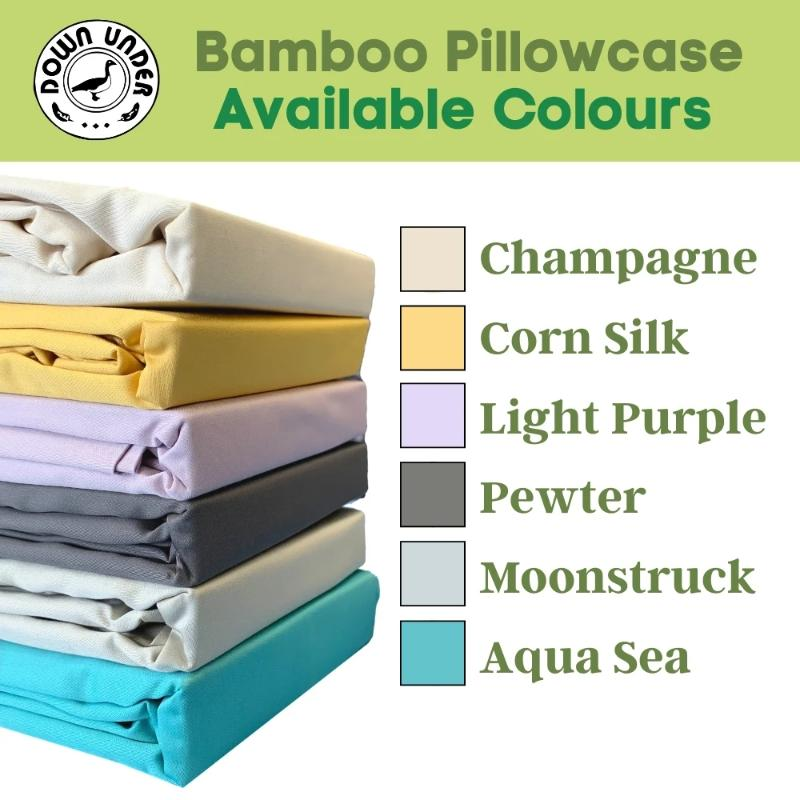 100% Rayon from Bamboo Sateen Pillowcases (Pair)