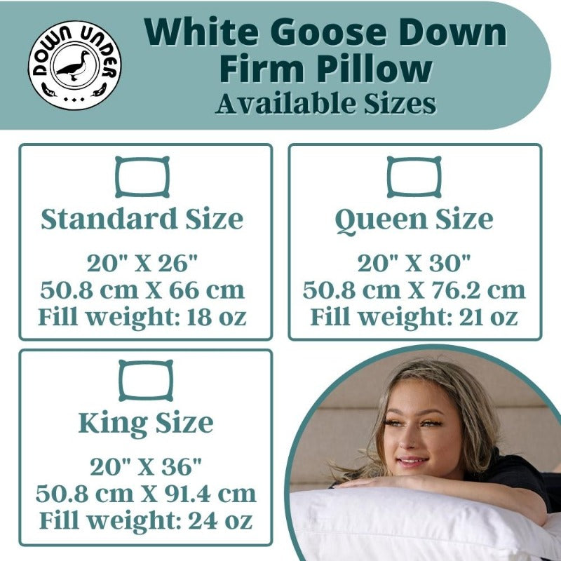 white goose high profile pillow sizes