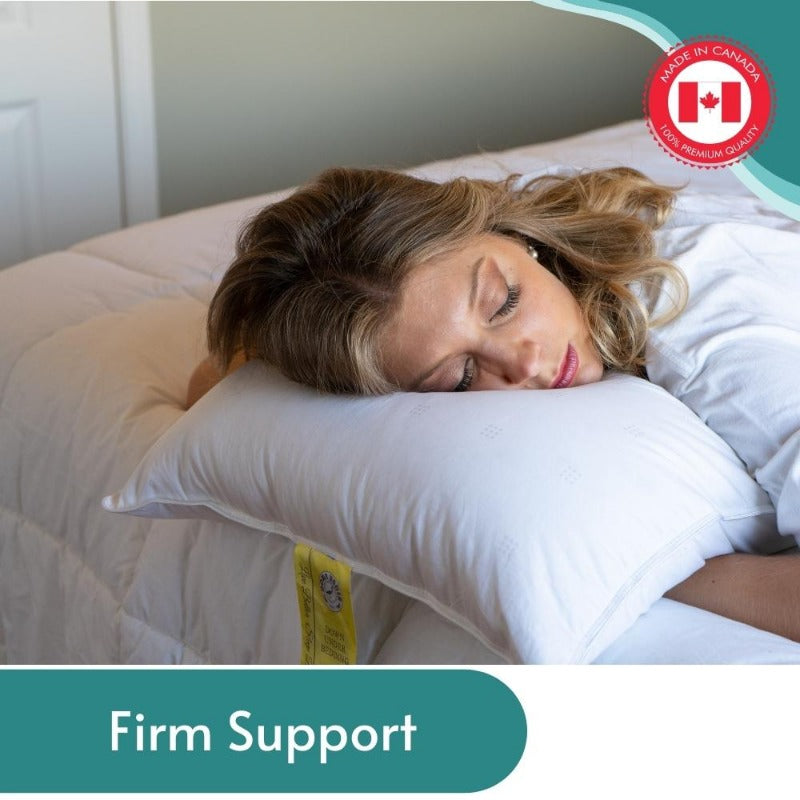 White Goose Down Firm Pillows | Down Under Bedding Canada