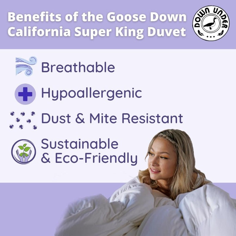 Goose Down Cal Super King Duvet | Canadian Quality Comforter Blanket