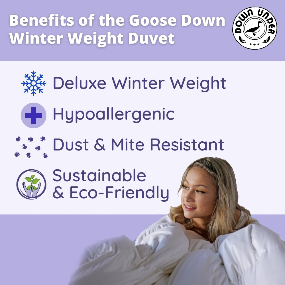 Goose Down Winter Weight Duvet | Canadian Quality Comforter Blanket