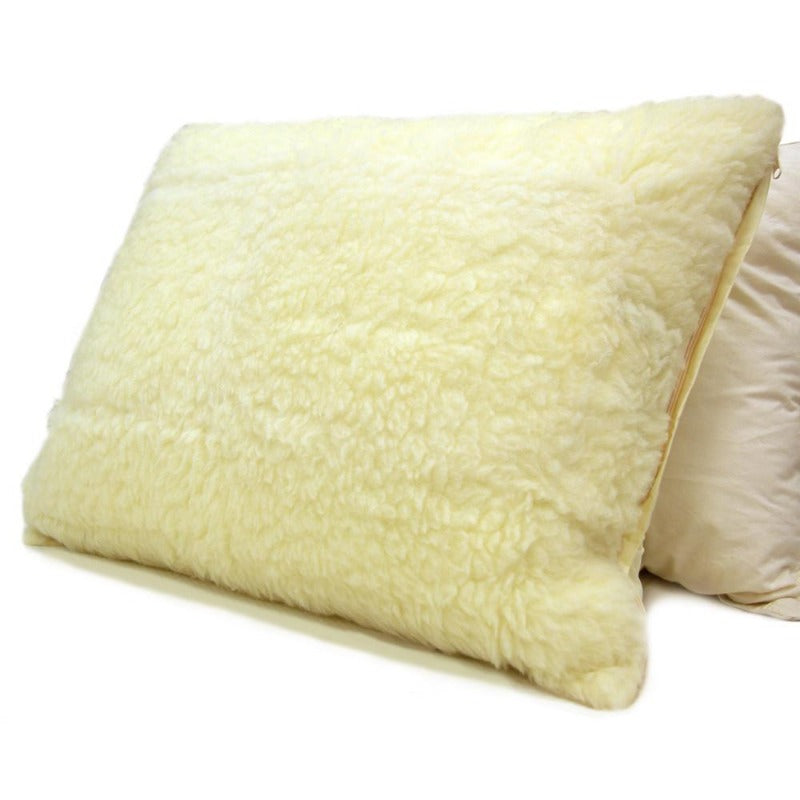 thermo regulating organic australian wool fleece pillow protector all-season eco-friendly hypoallergenic inflammable woolmark