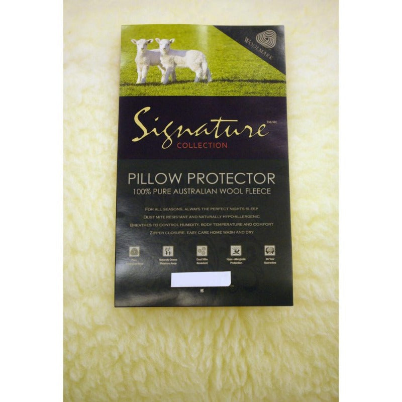 Wool Pillow Protector - Down Under Bedding and Mattresses