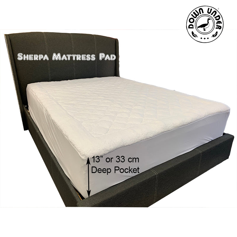 mattress pad topper overlay underlay soft plush all season cover quilted sherpa