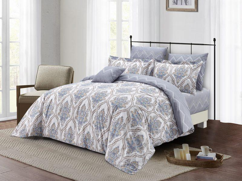 Jasper 7PC 100% Cotton Duvet Cover Bed In a Bag - Down Under Bedding and Mattresses