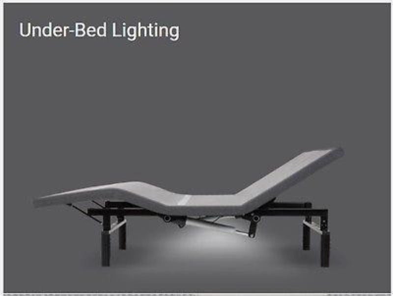 adjustable bed  bases bedroom lifestyle furniture foldable under bedding lighting remote control king queen wireless syncing