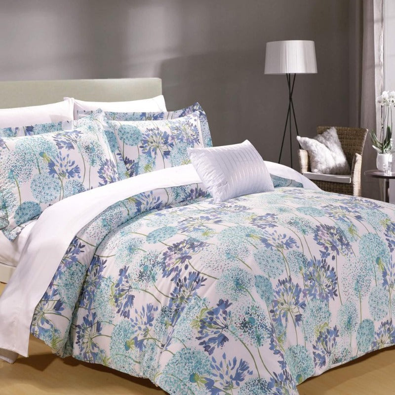 Meadow 8PC 100% Cotton Duvet Cover Bed In a Bag - Down Under Bedding and Mattresses