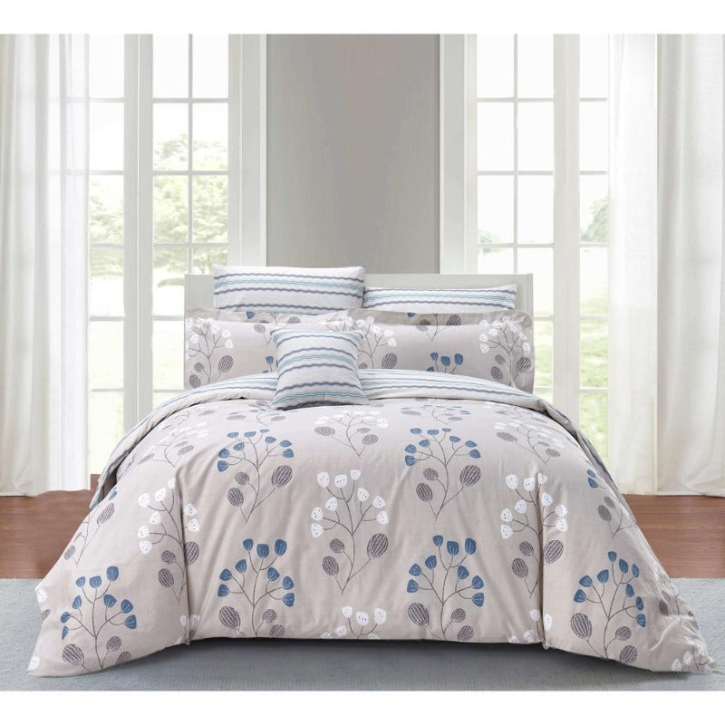 bed bag duvet comforter cover luxurious cotton sateen stunning design ultrasoft 220 thread count washable durable zipper