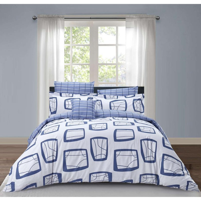 Penny 4PC 100% Cotton Reversible Duvet Cover Set - Down Under Bedding and Mattresses