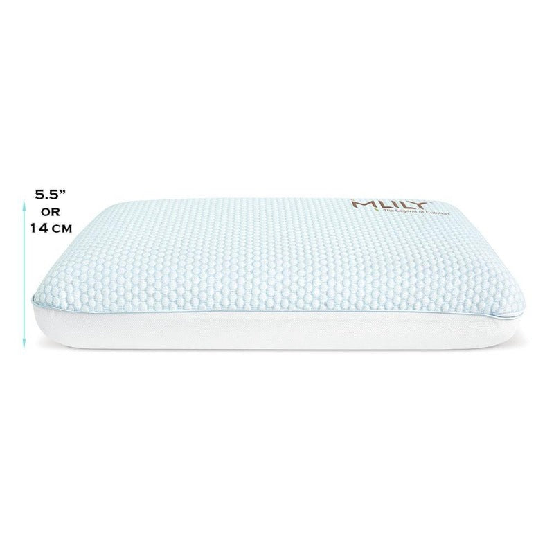 memory foam pillow relax comfort thermoregulating sleep pillows CertiPUR-US air-flow breathable moisture control zipper cover