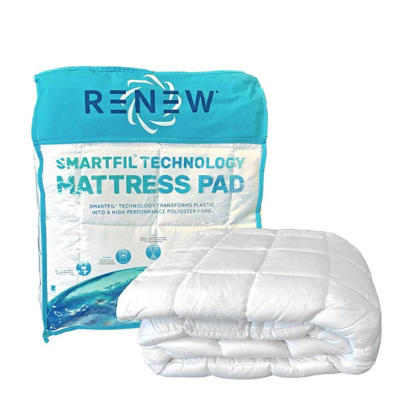 Renew Made From Recycled Plastic Mattress Pad | Down Under Bedding