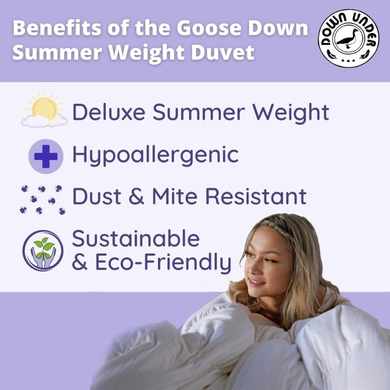Goose Down Summer Weight Duvet | Canadian Quality Comforter Blanket