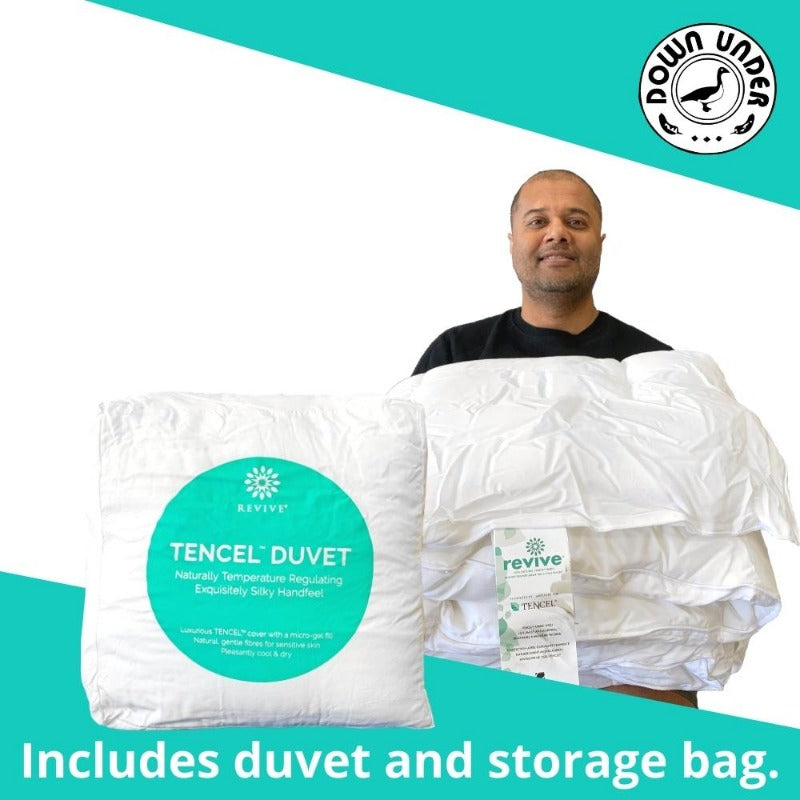 Revive Tencel Comforter includes duvet and storage bag