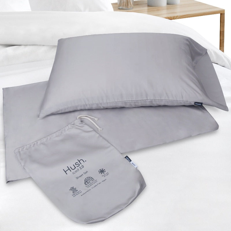 HUSH ICED 2.0 Cooling 100% Bamboo 3PC Sheet Set (NO FLAT SHEET)